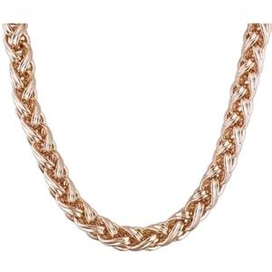 "Copper Foxtail Chain Link 19"" Necklace"